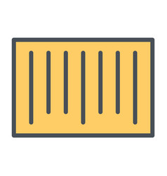 barcode pixel perfect line icon 48x48 vector image vector image