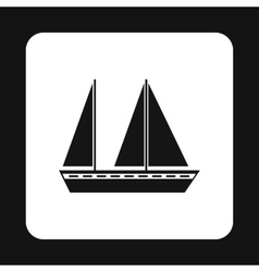 Boat icon simple style vector image vector image