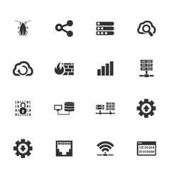 hosting provider icons set vector image