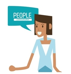 woman and bubble icon People design vector image vector image