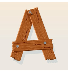 wooden letter a vector image