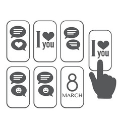 Chat icon love message vector