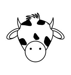 Cow animal farm isolated icon vector