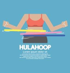 Hulahoop playing vector