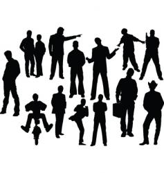 man silhouettes vector image