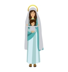 picture saint virgin mary with baby jesus vector image