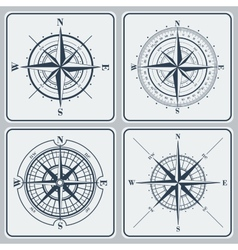 Set of compass roses windroses vector image vector image