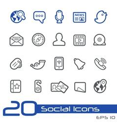 Social Media Outline Series vector image