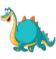 walking dinosaur vector image