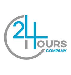 24 hour logo service vector image