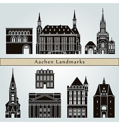 Aachen landmarks and monuments vector image