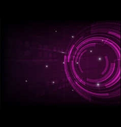 Abstract purple circle digital technology vector