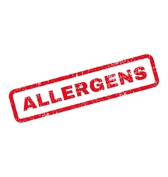 Allergens Text Rubber Stamp vector