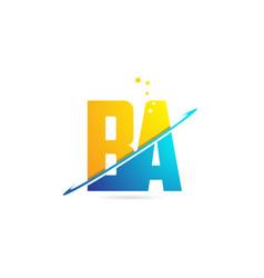 Alphabet letter ba b a combination for logo vector
