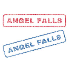 Angel falls textile stamps vector