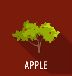 Apple tree icon flat style vector
