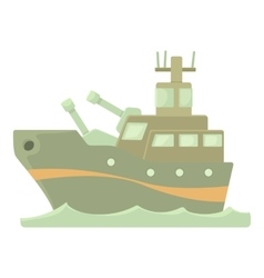Battleship icon cartoon style vector