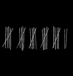 Blackboard tally marks vector