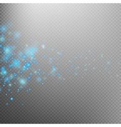 Blue glittering star dust trail EPS 10 vector image