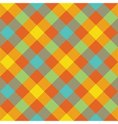 Bright diagonal checkered plaid seamless pattern vector