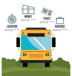 Bus travel infographic icon vector