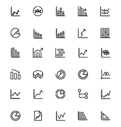 Business Charts Line Icons 3 vector