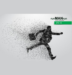 business man silhouette from particles vector image
