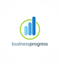 business progress logo vector image