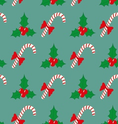 Christmas seamless pattern with berries and vector