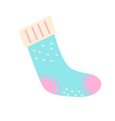 Christmas stocking flat abstract element vector