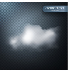 cloud effect on a transparent background vector image