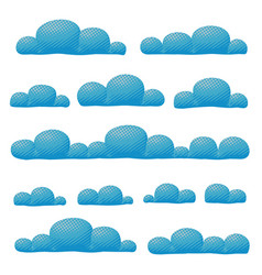 Cloudy overcast sky panorama collection vector