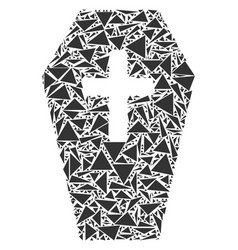 coffin mosaic of triangles vector image