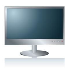 Computer lcd monitor vector