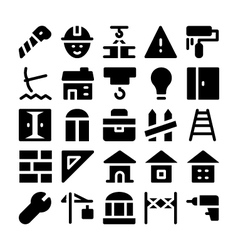 Construction Icons 8 vector image vector image