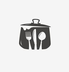 Cooking logo or symbol diner menu icon vector