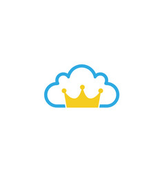 crwon cloud logo vector image