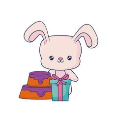cute rabbit animal baby vector image