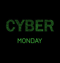Cyber monday discount day in online stores event vector