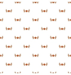 Deer antler pattern cartoon style vector image