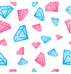 Diamonds of different size seamless pattern vector