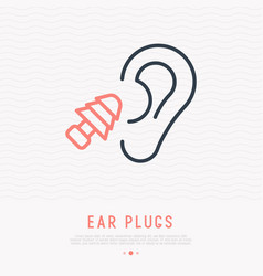 Earplug thin line icon vector