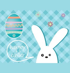easter holiday - rabbit and easter egg vector image