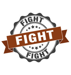 Fight stamp sign seal vector
