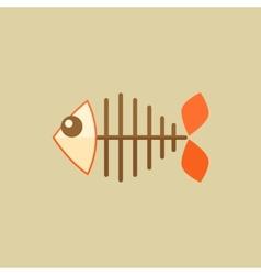 Fish Food Flat Icon vector image