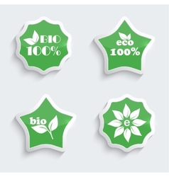 Glossy plastic buttons with environmental icons vector image
