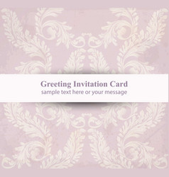 greeting card with classic luxury ornament vector image
