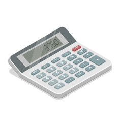 grey isometric calculator vector image