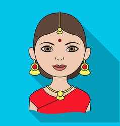 Hindu womanhuman race single icon in flat style vector