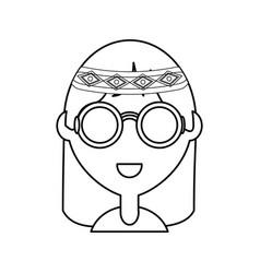 hippie woman vector image